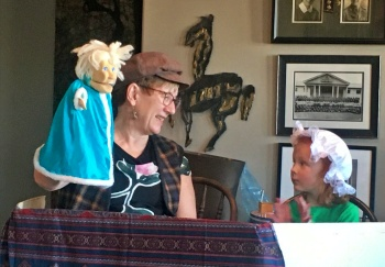 Learn storytelling and Reader's Theatre with puppets.